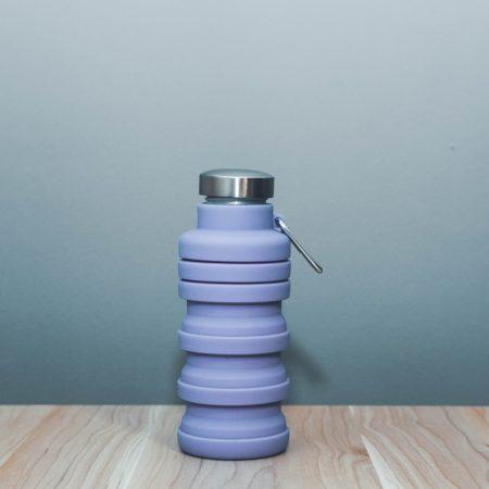 Összecsukható öko lila kulacs 5