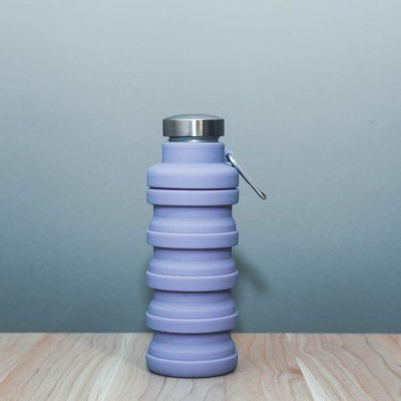 Összecsukható öko lila kulacs 6